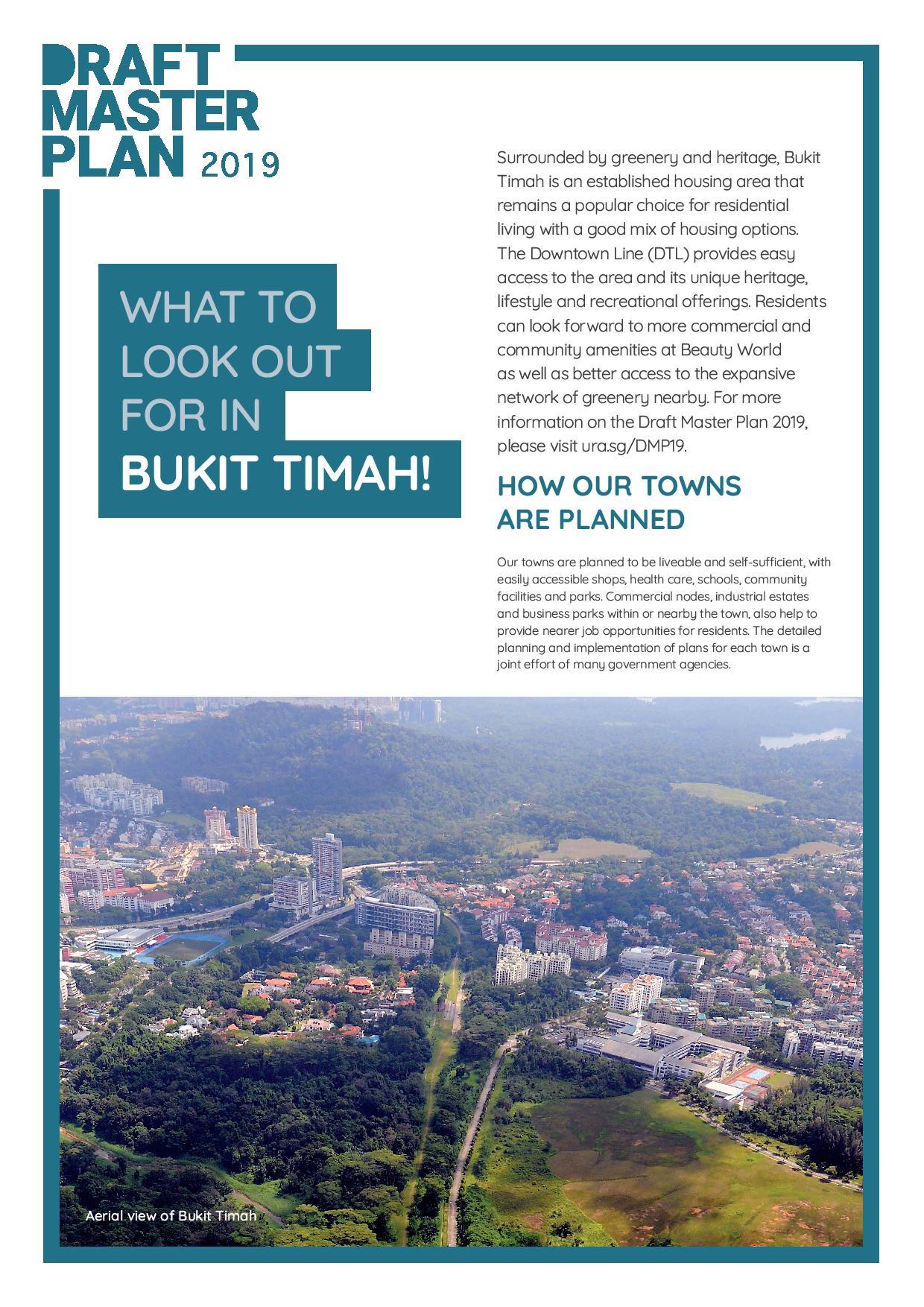 URA Draft Master Plan 2019 Bukit Timah